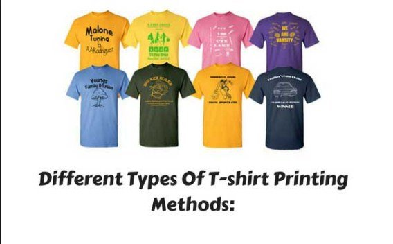 t-shirt printing methodes