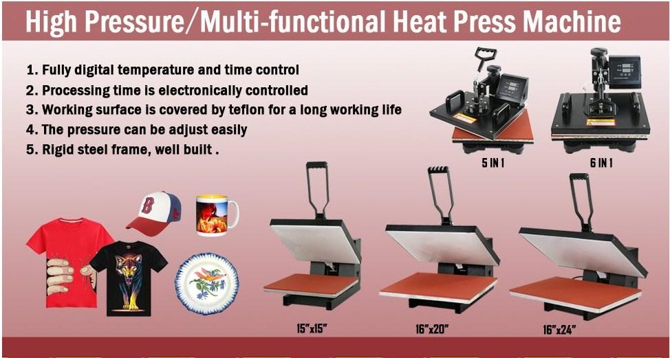 dc1b398d Zeny Heat Press 12″ x 15″ Pro : Best T-Shirt printing machine Reviews