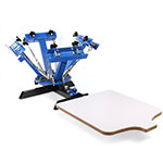 Happybuy Silk Screen Printing Machine Press 4 Color 1 Station Silk Screen press
