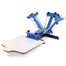 Happybuy Silk Screen Printing Machine Adjustable Double Spring Device(4 Color 1 Station)