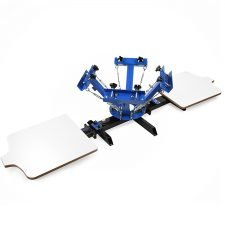 Maxwolf Silk Screen Printing Machine 4 Color 2 Station Double Spring T-shirt Press DIY