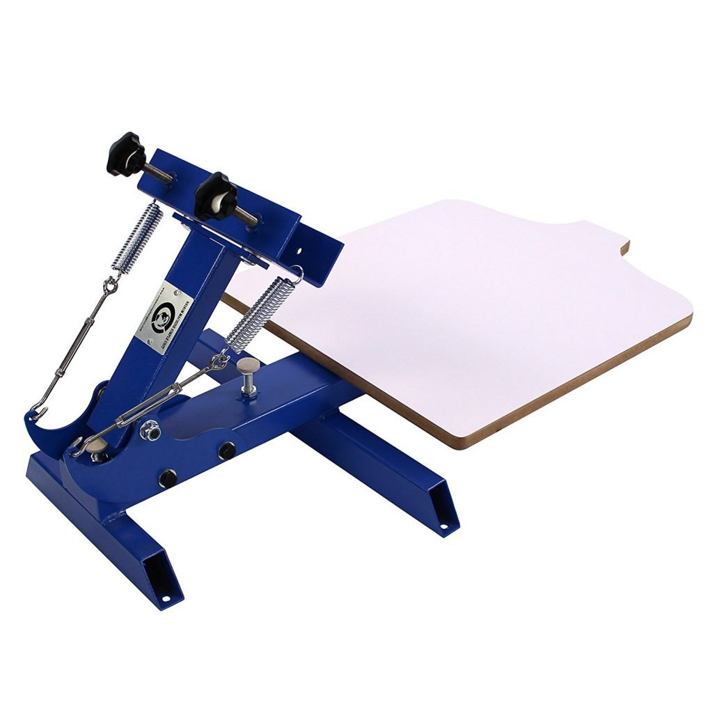 Simple Single 1 Color 1 Station Silk Screen Printing Machine For T Shirt