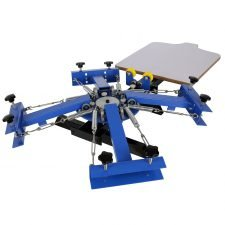 Ridgeyard 4 Color 1 Station Silk Screen Printing Machine Screen Printing Press T-Shirt printing Machine