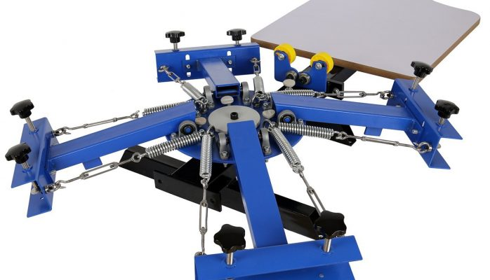 Ridgeyard 4 Color 1 Station Silk Screen Printing Machine Screen Printing Press