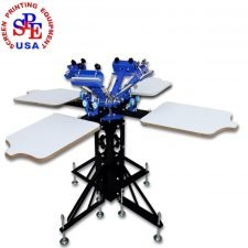 4 Color 4 Station manual screen printing press Silk Screen Printing Machine Press DIY T-Shirt Printer