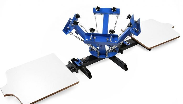 manual screen printing press 4 Color 2 Station