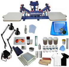 4 color 2 stations screen printing machine