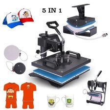 Power Heat Press 6 in 1 Industrial-Quality 12-by-15-Inch Multifunctional Sublimation T-Shirt Hat Mug Heat Press Machine