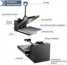 powerpress heat press 15x15