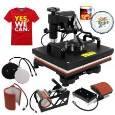 ZENY Digital Heat Press Transfer 5 in 1 Swing Away Heat Press Machine