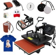 F2C Pro 5 in 1 Combo Heat Press Machine T-Shirt Hat Cap Mug Plate Digital Transfer Sublimation Machine