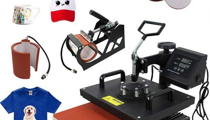 F2C Pro 5 in 1 Combo Heat Press Machine T-Shirt Hat Cap Mug Plate Digital Transfer Sublimation Machine
