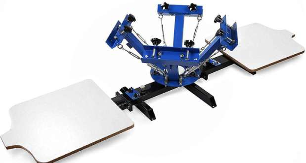 SHZOND Screen Printing Press 4 Color 2 Station Silk Screen Machine
