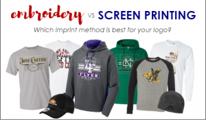 Screen printing vs embroidery -Which Imprint Method is best for your Logo