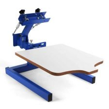 "SHZOND Screen Printing Press 1 Color 1 Station Silk Screen Machine 21.7"" x 17.7"" Removable Pallet Screen Printing Machine Press for T-Shirt DIY Printing"