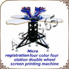 Silk Screen Printing Machine 4 Color 4 Station Screen Printing Press Screen Printing Machine Printer DIY T-Shirt
