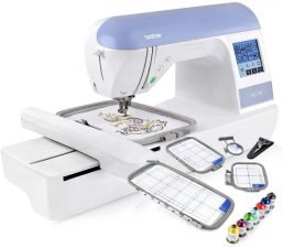 "Brother Embroidery Machine, PE770, 5"" x 7"" Embroidery Machine with Built-in Memory- best embroidery machine for beginners"
