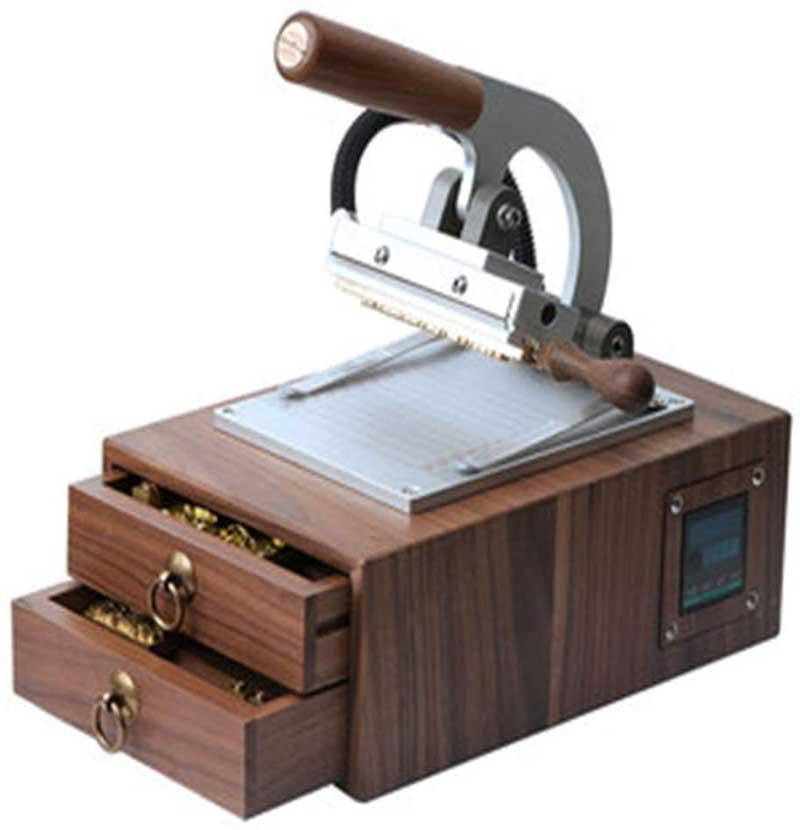 LANTAO Hot Foil Stamping Machine Manual Branding Machine for Leather PU Paper Bag Wallet Bronzing Machine