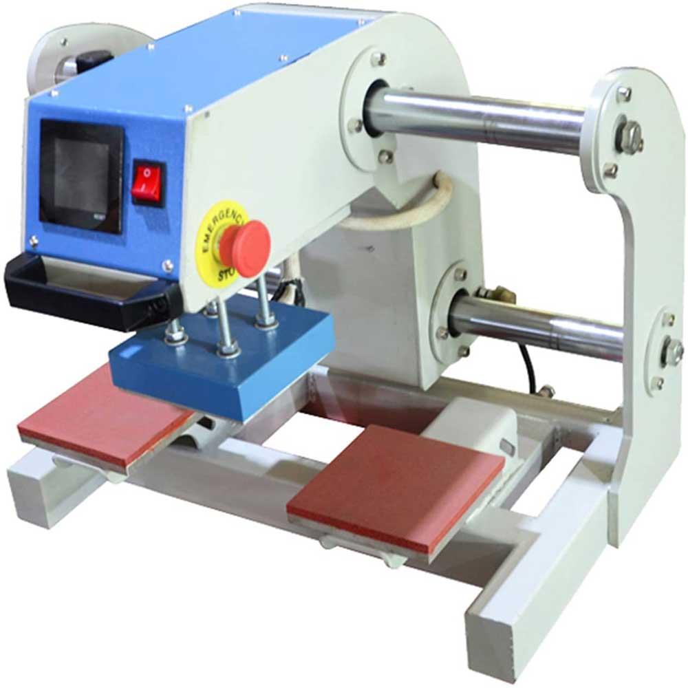 QWERTOUR Garment T-Shirt hot Stamping Small Heat Transfer Machine Heat Press Machine Double Station Pneumatic Pressing Machine