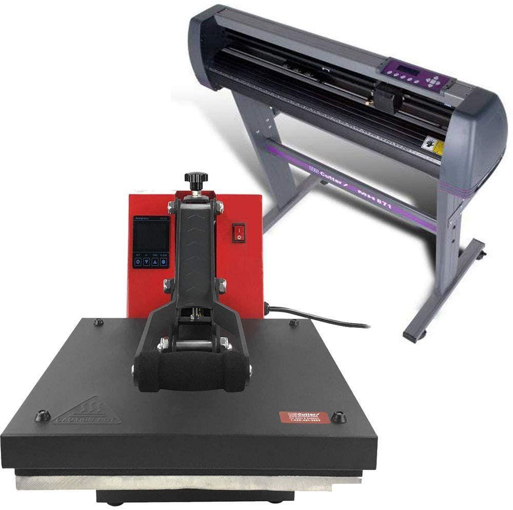"""Heat press vinyl cutter combo- USCutter 28"""" Vinyl Cutter + 15"""" x 15"""" Digital Heat Press Machine Signs/T-Shirt Making 28"""" Vinyl Cutter + 15"""" x 15"""" Digital Heat Press Machine Signs/T-Shirt Making"""